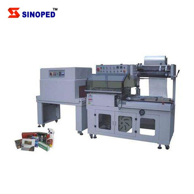 Shrink wrapping machine for tools or parts