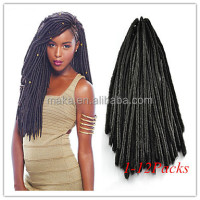 New products gray synthetic hair crochet twist braid faux locs