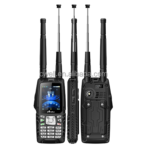 2.4 inch Dual Mode CDMA GSM IP67 Waterproof Mobile Phone With VHF walkie talkie 3000mah battery 450mhz handset Olive W18