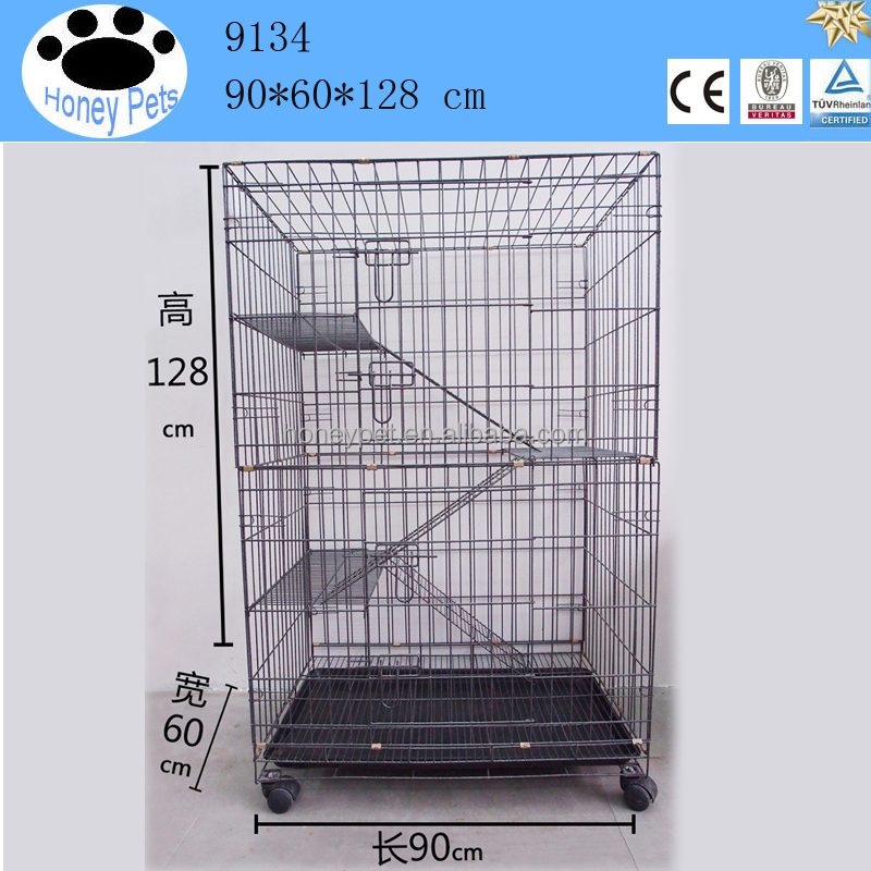 Wholesale good quality indoor metal wire cat cage large