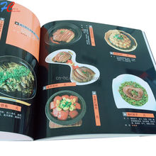 family lamination art paper food menu cooking book recipe printing/Customized Cook Book Printing/ resturan cooking book