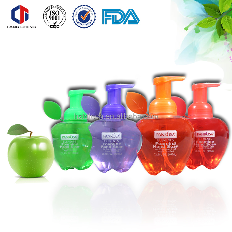 400ml apple foam hand soap/OEM brand names of hand wash