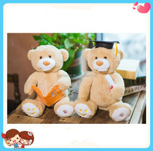 new design High quality electronic costumed plush Teddy Bear toy for kids, LED,sing and dance
