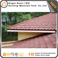 Types Of House Roofing Materials,Stone Coated Metal Roofing Tile Made By Sangobuild