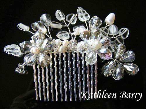 Hair comb - Michelle bridal wedding hair accessory