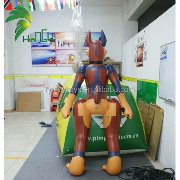 Excellent Quality Hongyi Toys Large Inflatable Cartoon Dog Model for Sale
