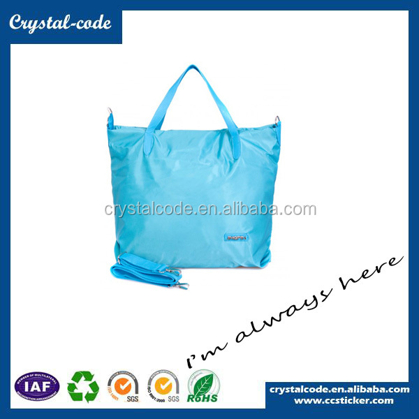 Superfine Recycled Laminated Polyester Folding Shopping Fabric Bag