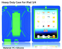 Hot selling double layers specific tough Armor rugged Case Cover hard heavy duty defender case For iPad 2 3 4