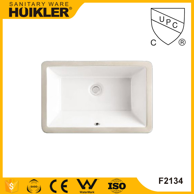 White rectangle ceramic bathroom art basin sink hospital medical wash basin