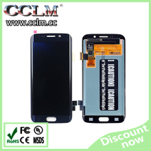 mobile phone part for samsung s6 edge lcd digitizer, lcd screen full display for s6 edge