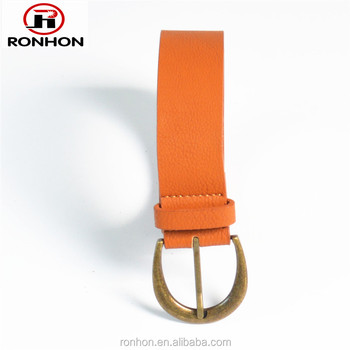 Hign quality men PU Leather Belt with Cooper buckle