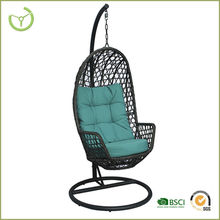 2016 outdoor furniture PE wicker rattan cheap hanging egg chair