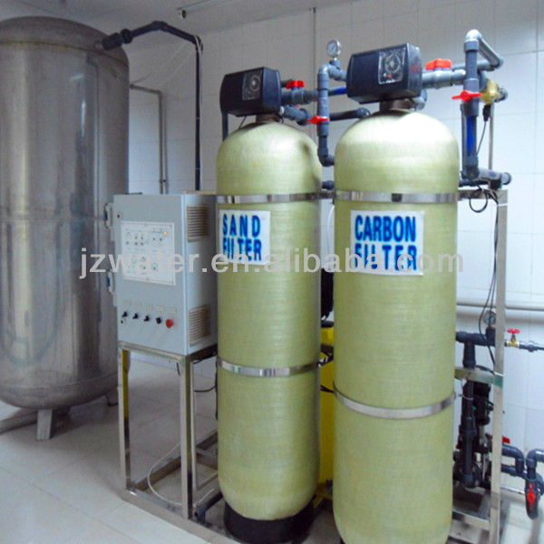 Water Softener in Water Treatment Plant with Control Valve and Activated Carbon Filter