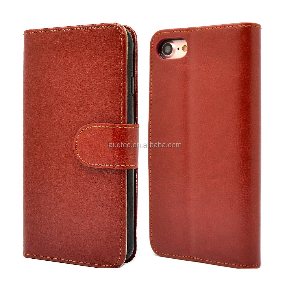 For iPhone 7 Flip Case Cover,Wallet Case Premium PU Protective Leather Case for iPhone 7 Plus