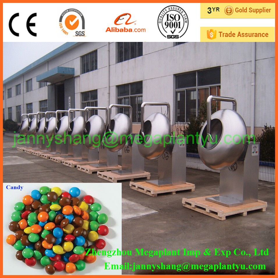 Food Industry Snack Machinery Chocolate Bean Coating Machine Manufacturer
