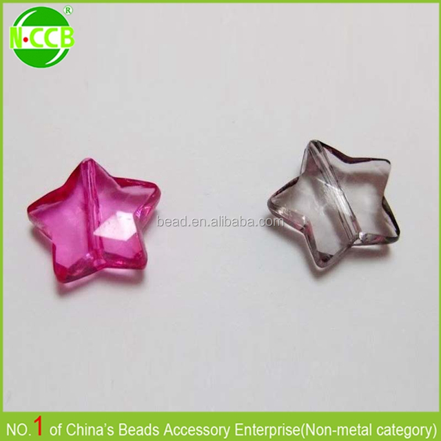 fashion flower plastic beads rose plastic beads star shape beads