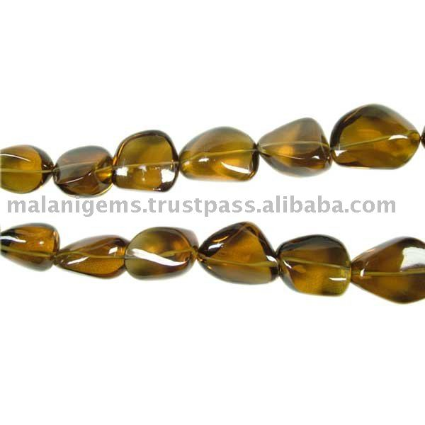 HONEY QUARTZ PLAIN NUGGETS LOOSE BEADS NATURAL