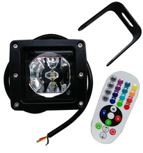 square offroad 3'' mini IP68 industrial waterproof 20W led tractor truck pod driving Work light