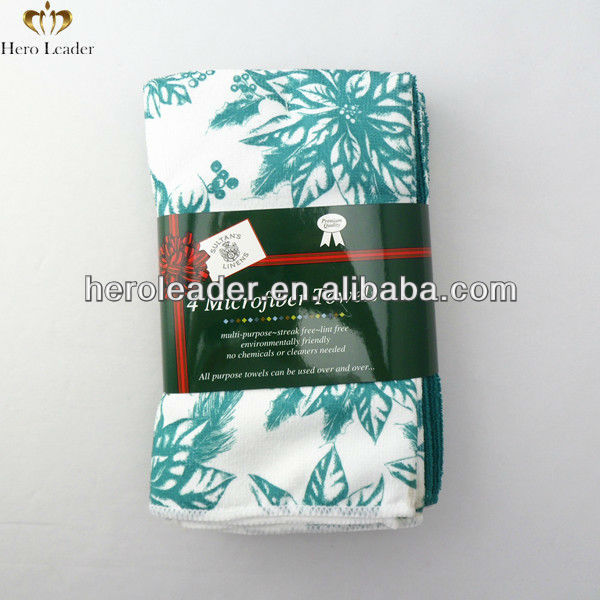 Micro fiber cloth for cleaning,cleaning rags,100%polyester