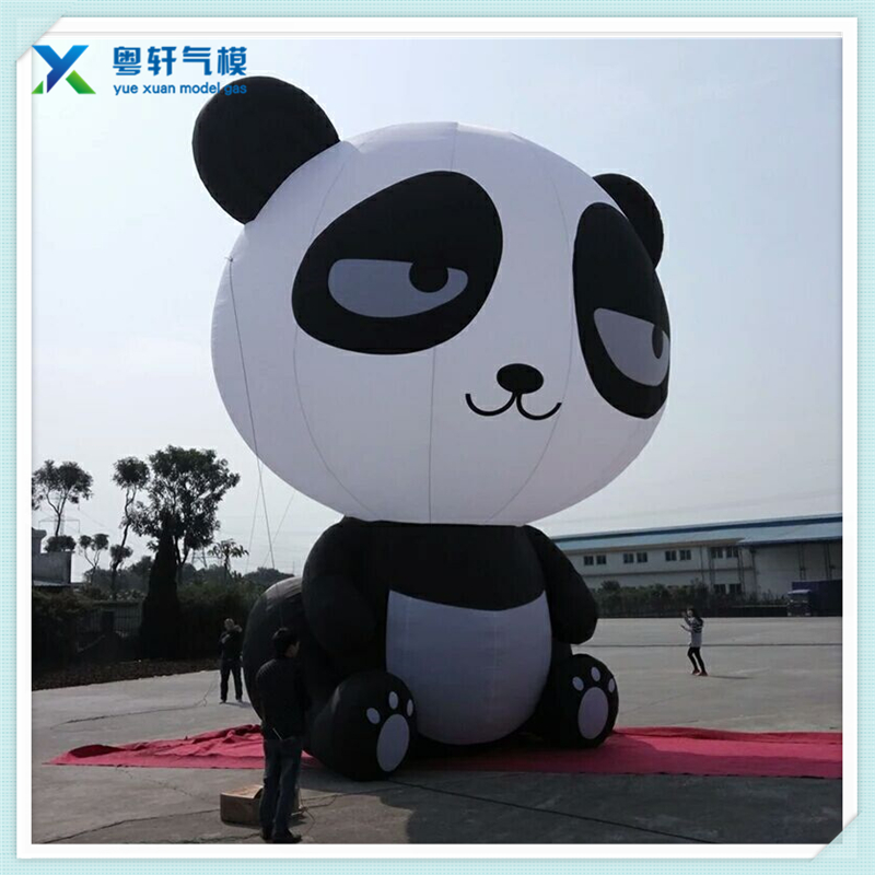 OEM/Customized outdoor inflatable Panda character cartoon/party decoration/inflatable cartoon balloon panda shape toy/inflatabl