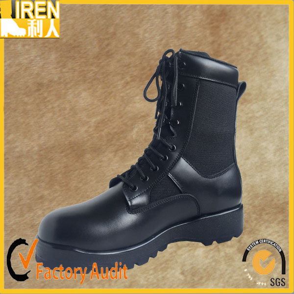 OEM/ODM black discount fashionable genuine leather military riding boots