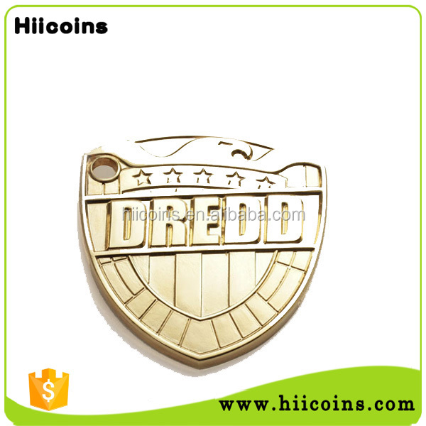 China metal factory pin badge custom safety officer badges