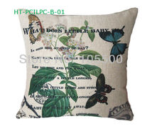 Car Seat Bed Chair Sofa Cushion Cotton Linen Digital Print Bulk Custom Decorateiv Cushion Cover Throw Pillow