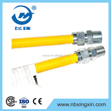 304 Flexible Stainless Steel Yellow-coated Gas Connector hose
