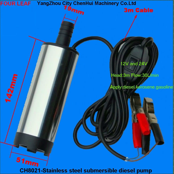 New 12v Fuel Water Oil Car Camping Diesel Dc Submersible Small Electric Water Mini Pump