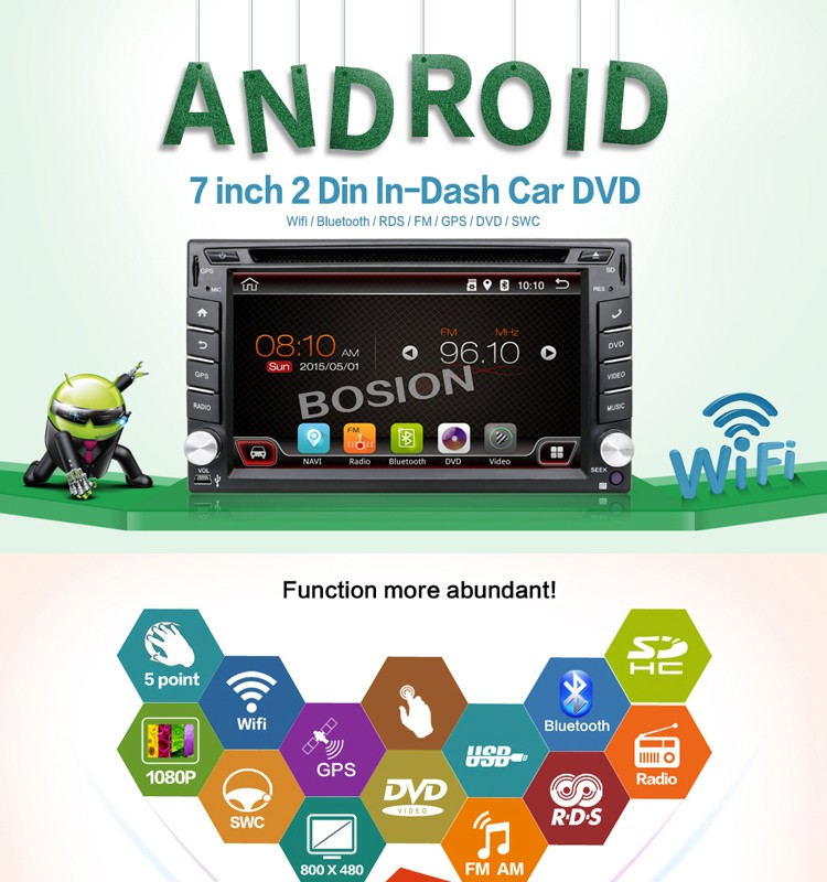 Android4.4 2Din DVD Player with GPS audio Navigation Radio for Janpan Car