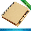 personal hardcover printed spiral notebook recycled notebook with pen