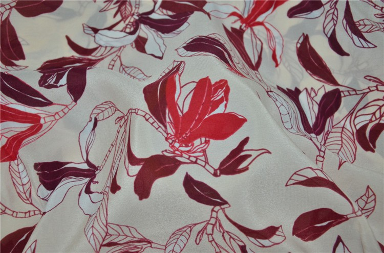 print chinese silk crepe de chine crepe silk fabric