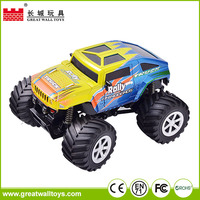 4CH 1:34 4wd off road plastic mini toy car rc monster truck with lights