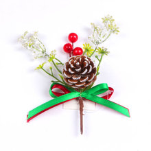 2016 new design decorative christmas glitter floral picks
