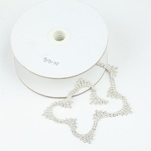 pretty high quality 888 crystal diamond trimming rhinestone cup chain