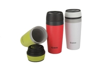 custom plastic insulated coffee cups with screw cap