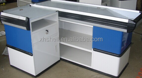 factory price cash counter desk /checkout counter for supermarket &gonloda for sale