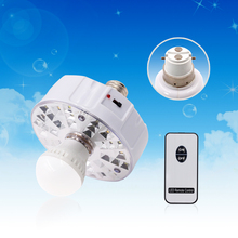 Remote Control E27 LED rechargeable Emergency Lamp with 220V AC Bulb middle
