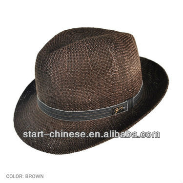 PP braid panama hat wholesale straw hat