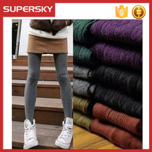 H-270 Wholesale thickening twist winter tights trample feet women joker render socks knitting warm tights leggings