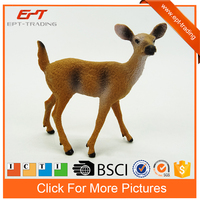 Hot selling mini plastic deer figures realistic toy deer for kids