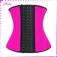 Classic active slimming latex steel boned plus size waist training corset