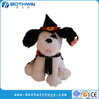 Flapping Ears Musical Halloween Witch Dog Plush Toy
