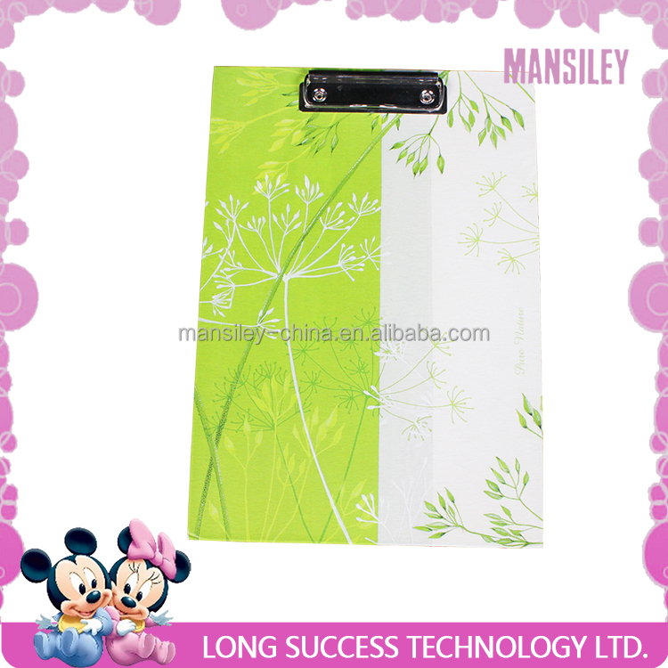 Mansiley color paper single side clipboard