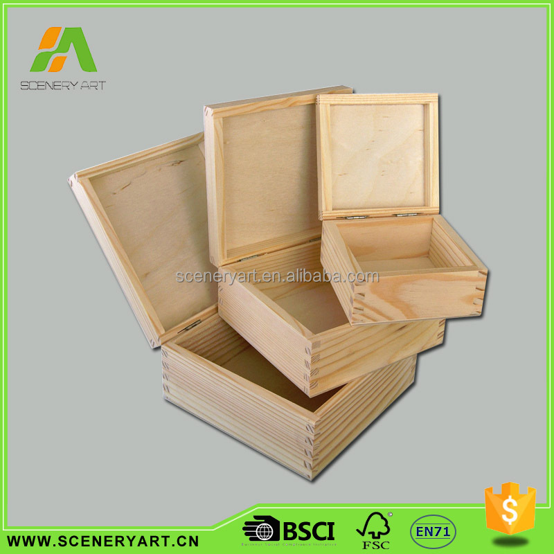 Popular unfinished wood packaging boxes