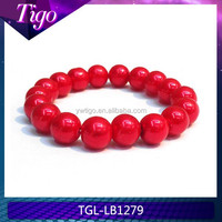 wholesale wedding gifts for bridesmaid red pearl bracelets