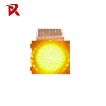 RSG Solar powered Led Aluminum traffic warning light controller intelligent traffic light