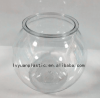 Clear plastic round fish tank/ mini Goldfish bowl wholesale