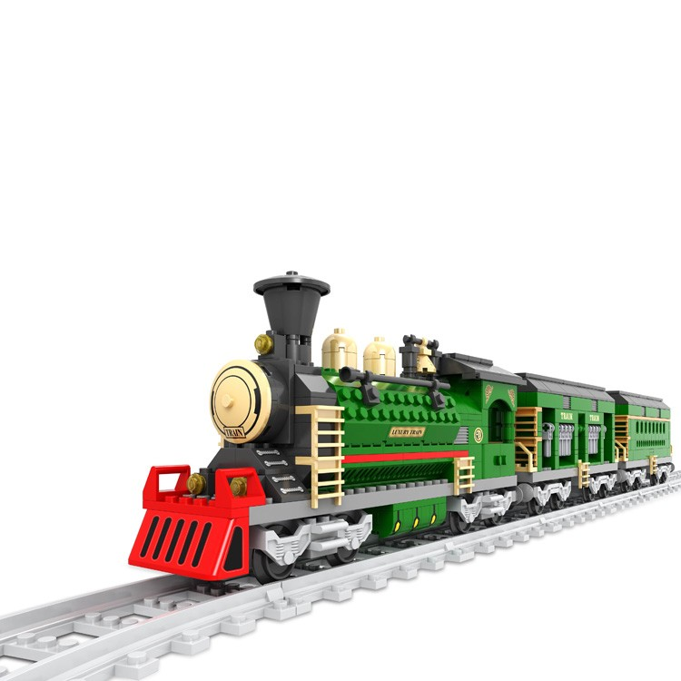 Cheap novelty fun kids plastic blocks enlighten train construction toys