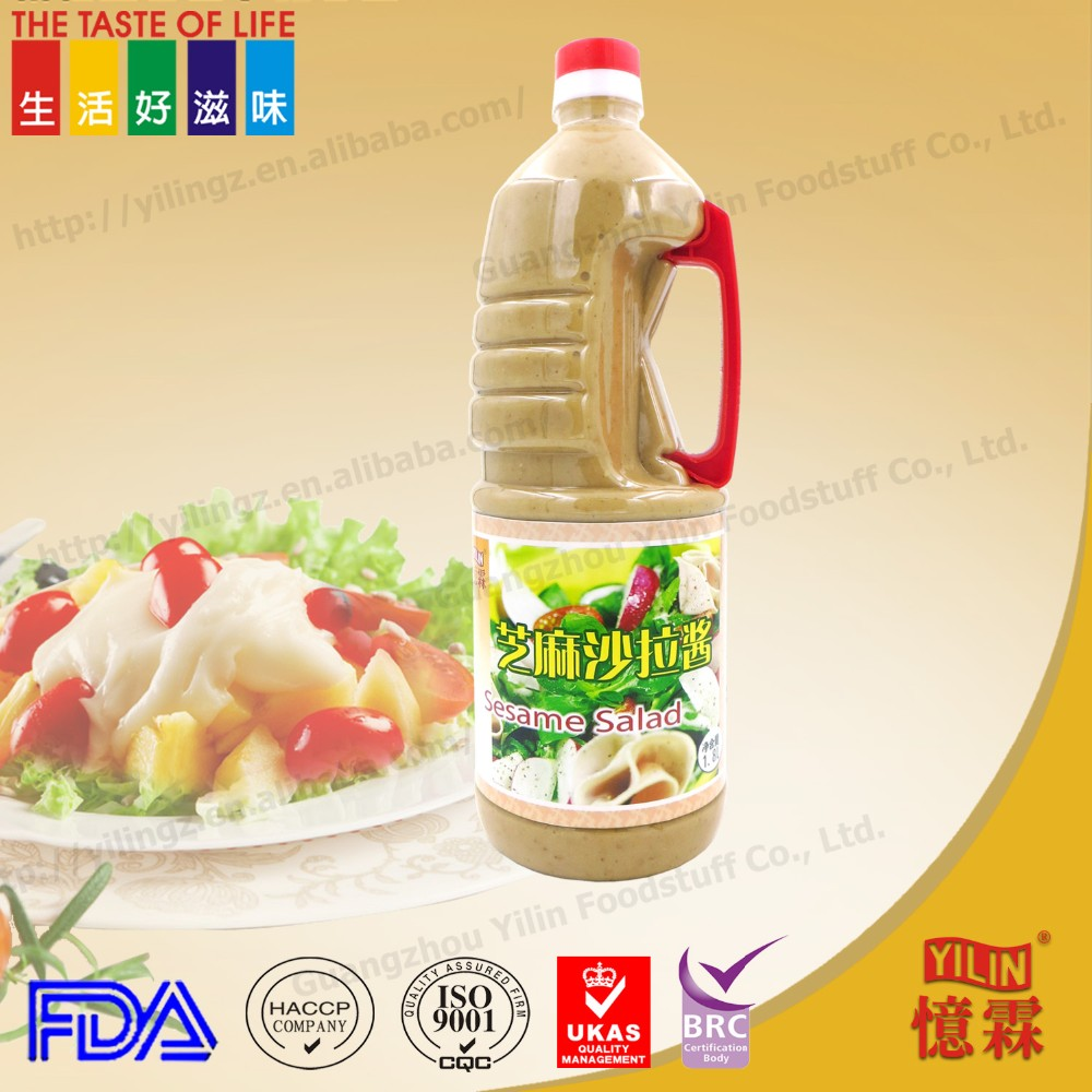 Hot sale 1.8L japanese health products sesame salad dressing production with BRC certificate